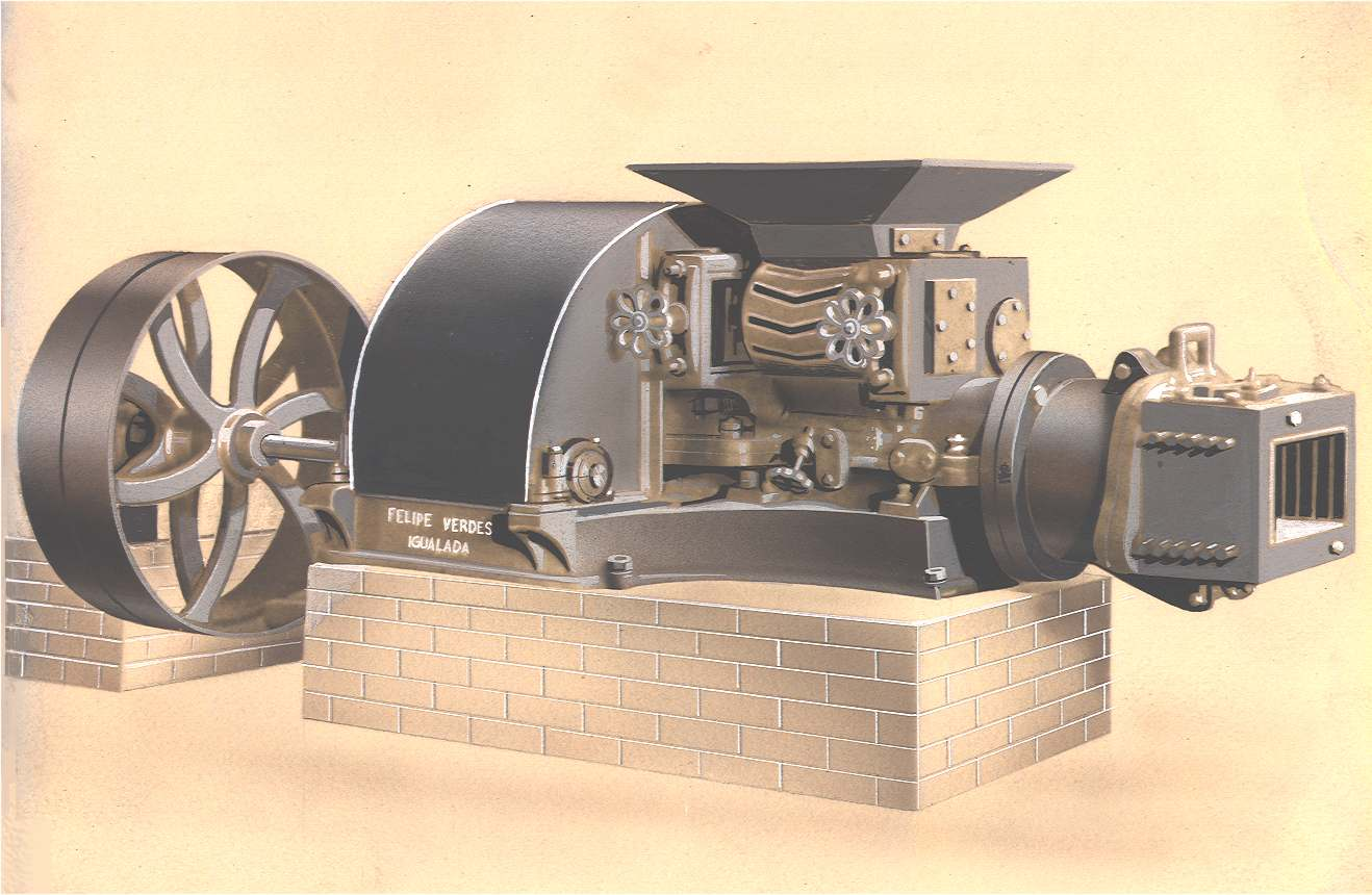 The very first Verdés extruder (1924)