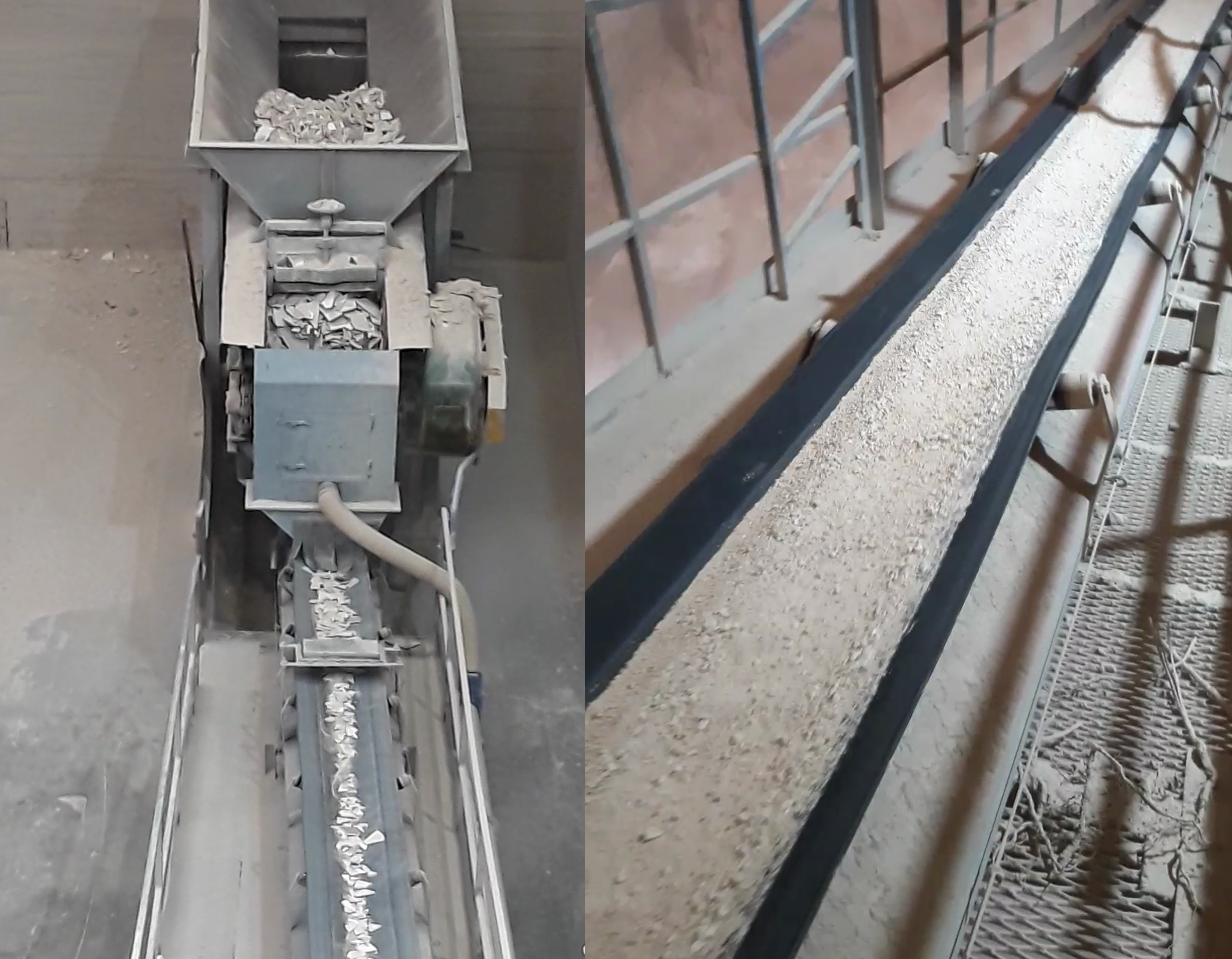 LTR - Precrushed chamotte with Verdés primary crusher / fine crushed chamotte with Verdés hammer mills